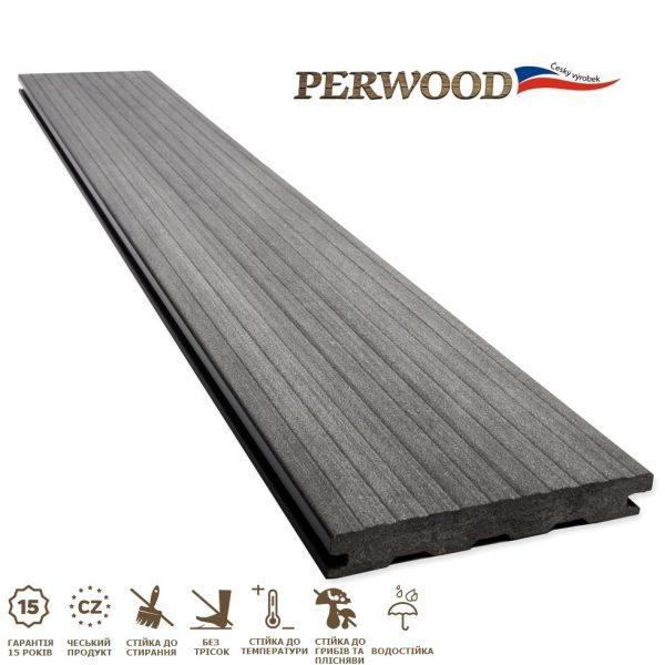Террасная доска PerWood Natural Massive серый камень